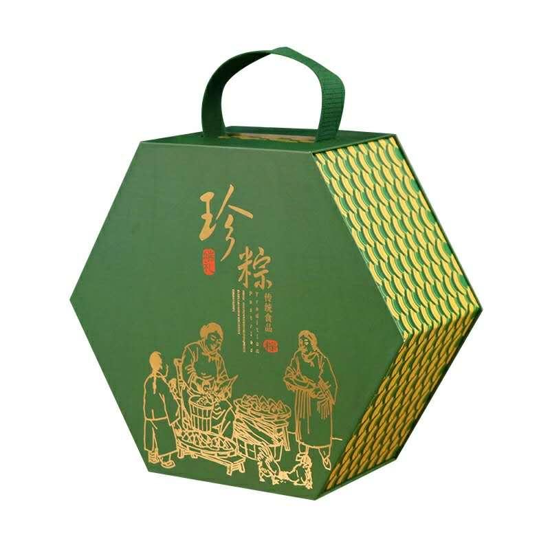 2020新款端午节粽子通用包装盒礼品盒手提盒定制批发现货
